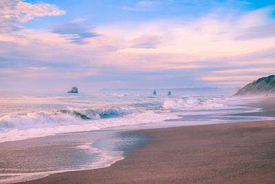 Outdoor Graphic Tees - Sea Stacks at Dusk by Bonny Puckett