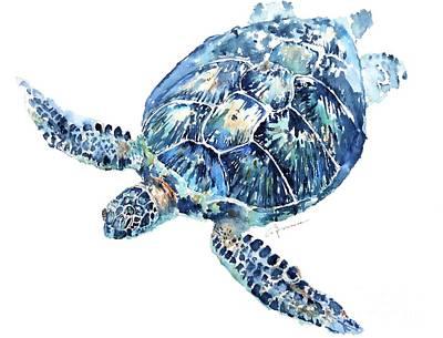 Painting - Sea Turtle 8 by Claudia Hafner