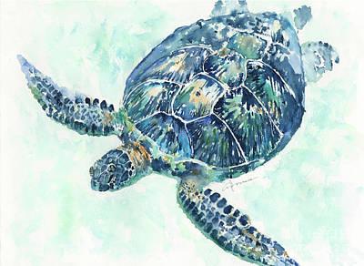 Painting - Sea Turtle 8a by Claudia Hafner
