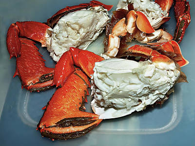 Classic Golf - Seafood serving of Spanner or Red Frog Crab. Cleaned then cooked by Geoff Childs