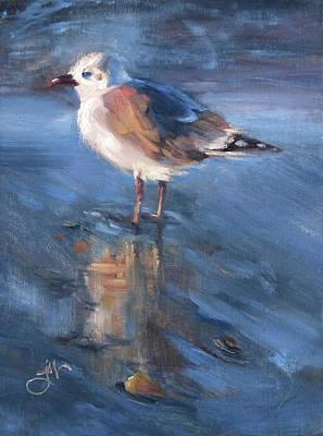 Painting - Seagull Sunset by Jeri McDonald