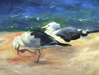 Painting - Seagulls and Sunshine by Jeri McDonald