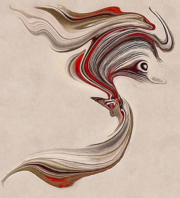 Surrealism Royalty Free Images - Seahorse Royalty-Free Image by Abstract Art By Erica