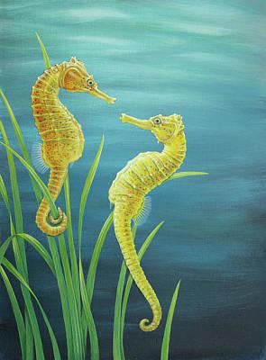 Painting - Seahorses by Craig Austin