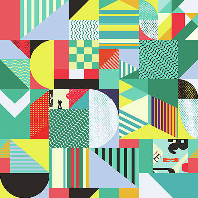 Royalty-Free and Rights-Managed Images - Seamless pattern with geometric and abstract elements by Julien