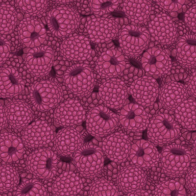 Royalty-Free and Rights-Managed Images - Seamless pattern with raspberries. by Julien