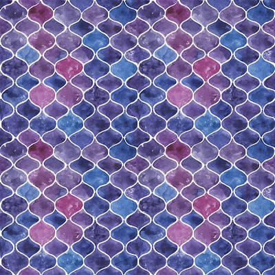 Royalty-Free and Rights-Managed Images - Seamless watercolor violet pattern by Julien