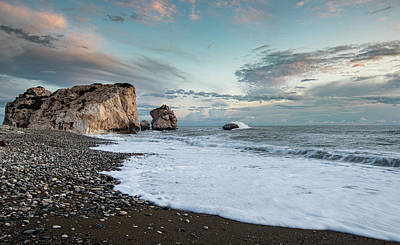 All American - Seascape with windy waves and moody sky during sunset by Michalakis Ppalis