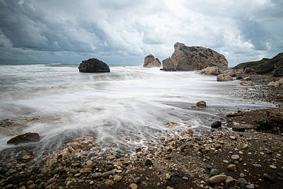 Book Quotes - Seascape with windy waves during stormy weather on a rocky coast by Michalakis Ppalis