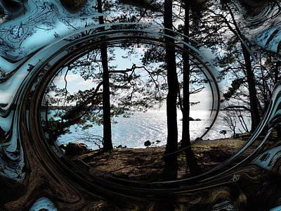 Digital Art - Seaside by Asa Spang Frolund