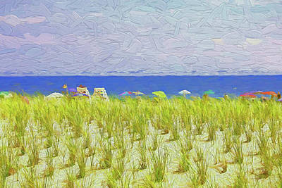 Have A Cupcake - Seaside Heights - Photopainting by Allen Beatty