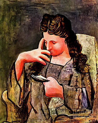 Aromatherapy Oils Royalty Free Images - Seated Woman Olga by Pablo Picasso 1920 Royalty-Free Image by Pablo Picasso