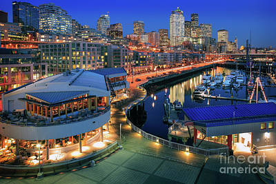 World War 2 Action Photography - Seattle Piers at Night by Inge Johnsson