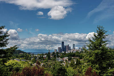 Landscapes Royalty-Free and Rights-Managed Images - Seattle Skyline 02 by Mike Penney