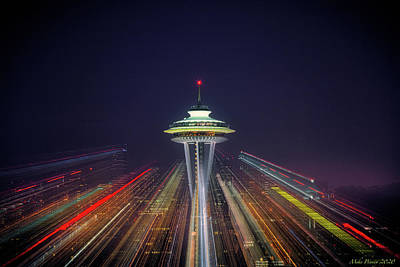 Uncle Sam Posters - Seattle Space needle 002 by Mike Penney