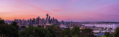 Royalty-Free and Rights-Managed Images - Seattle Sunrise Light and Colors by Mike Reid