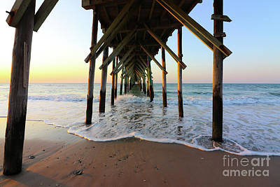 Typography Tees - Seaview Pier North Topsail Island 1024 by Jack Schultz