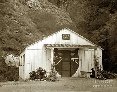 Rights Managed Images - Seaview School, Big Sur, California Circa 1950 Royalty-Free Image by California Views Archives Mr Pat Hathaway Archives
