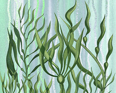Royalty-Free and Rights-Managed Images - Seaweed Garden Peaceful Movement Under The Sea   by Irina Sztukowski