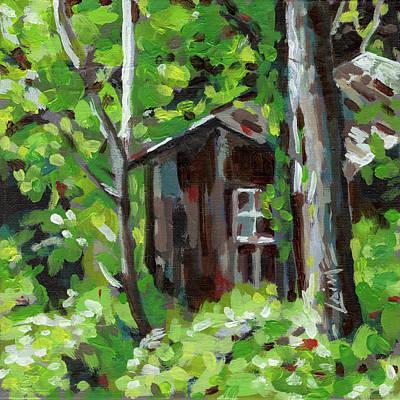 Painting - Secret Hut by Nimrod Stark