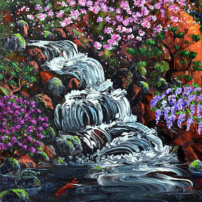 Painting - Secret Waterfall by Laura Iverson