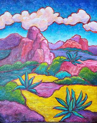 Painting - Sedona Adobe Jack Agave by Terry Ann Morris