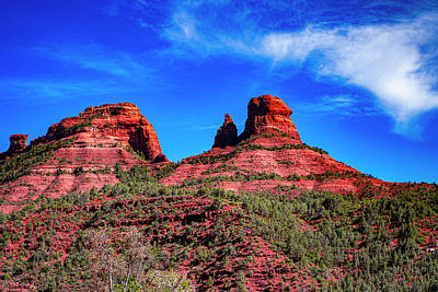 Landscapes Royalty-Free and Rights-Managed Images - Sedona Naughty Rock by Jeremy Rickman
