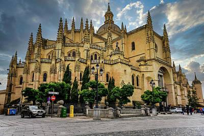 Global Design Shibori Inspired - Segovia Cathedral by Clyn Robinson
