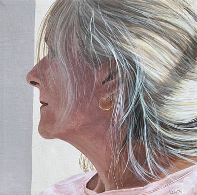 Painting - Self Portrait Distancing by Lissa Banks
