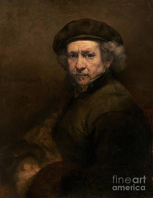 Blue Hues - Self Portrait of Rembrandt van Rijn by JL Images