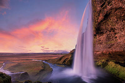 State Word Art - Seljalandsfoss waterfall by Alexios Ntounas