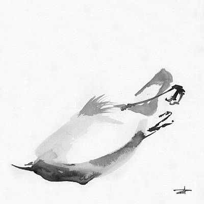 Animals Drawings - Senescence 15 by Paul Davenport