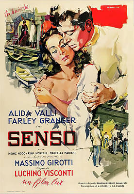 Royalty-Free and Rights-Managed Images - Senso, with Alida Valli and Farley Granger, 1954 by Stars on Art