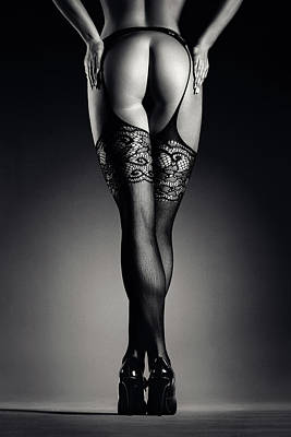 Royalty-Free and Rights-Managed Images - Sensual legs in stockings by Johan Swanepoel