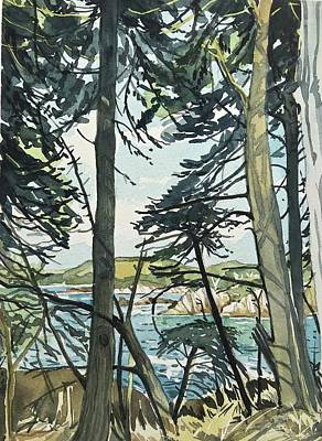 Wild Horse Paintings - September Afternoon Point Lobos by Luisa Millicent