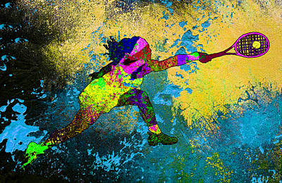 Sports Paintings - Serena Williams Dream 01 by Miki De Goodaboom