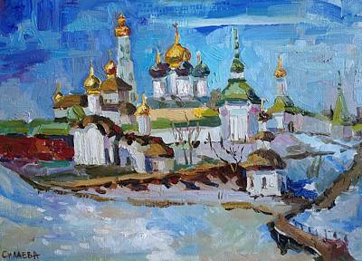 Painting - Sergiev Posad in March by Nina Silaeva