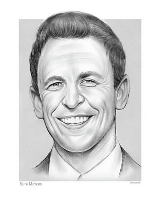 Classic Baseball Players - Seth Meyers by Greg Joens