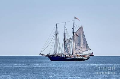 Lovely Lavender - Setting Sail on Blue 2 by Robert Anastasi