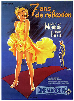 Royalty-Free and Rights-Managed Images - Seven Year Itch movie poster 1955 by Stars on Art