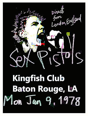 Painting Royalty Free Images - Sex Pistols Live Baton Rouge 1978  Royalty-Free Image by Enki Art