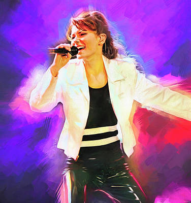 Royalty-Free and Rights-Managed Images - Shania Twain by Mal Bray