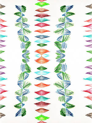 Featured Tapestry Designs - Shape Stack Pattern by Sarf