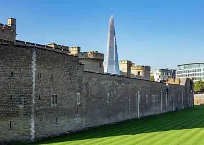 Caravaggio - Shard skyscraper rises above Tower of London by Steven Heap