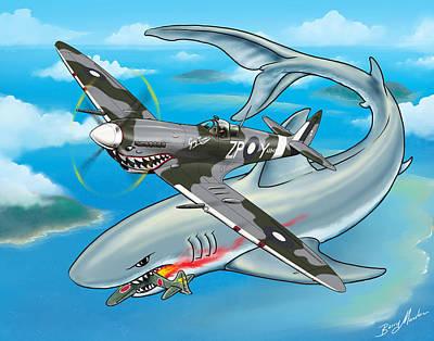 Digital Art - Shark Teeth by Barry Munden