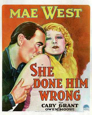 Royalty-Free and Rights-Managed Images - She Done Him Wrong - 1933 by Stars on Art