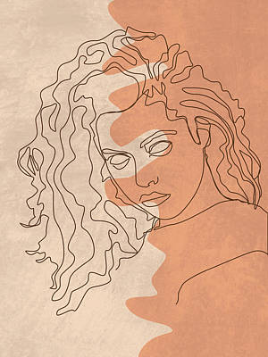 Royalty-Free and Rights-Managed Images - She is Fierce - Contemporary, Minimal Portrait 5 - Brown by Studio Grafiikka