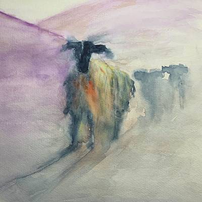 Gaugin Rights Managed Images - Sheep at Sunrise Royalty-Free Image by Christine Marie Rose