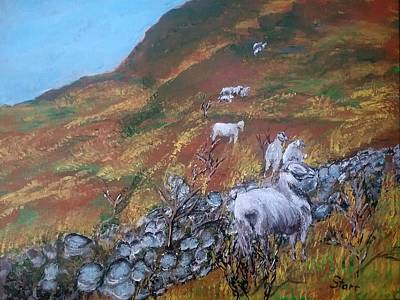 Popstar And Musician Paintings - Sheep In The Pyrenees by Irving Starr