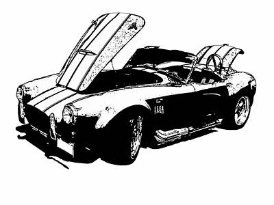 Maps Maps And More Maps - Shelby Cobra by Jeremy Edsall